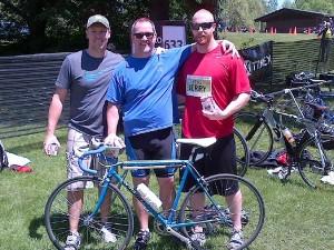 Scott Awde – Swimmer, John Poole – Cyclist, Jerry Kleiner - Runner