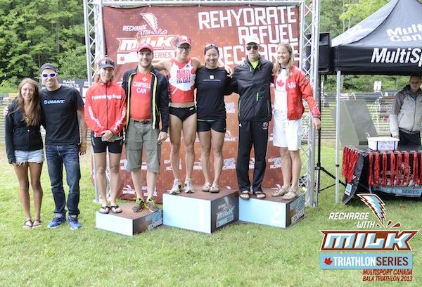 Bala Falls Triathlon Podium